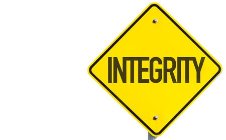 Integrity sign on white background Stock Photo