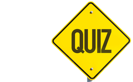 quizzing: Quiz sign isolated on white background