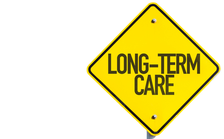 health care facility: Long-Term Care sign isolated on white background
