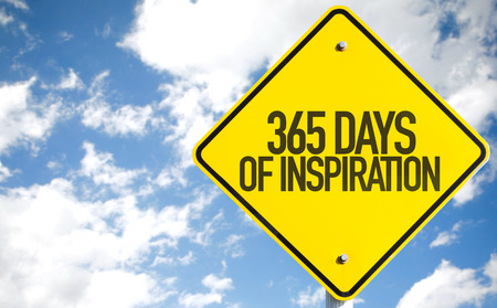quoted: 365 Days of Inspiration sign isolated on white background Stock Photo