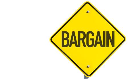 bargain: Bargain sign isolated on white background Stock Photo