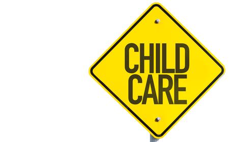 kindergartner: Child Care sign isolated on white background