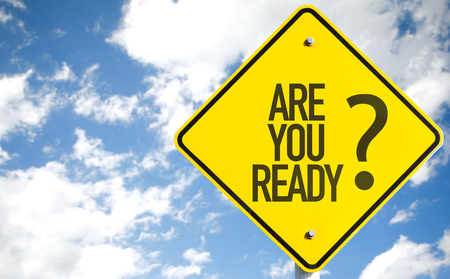 eagerness: Are You Ready sign with sky background