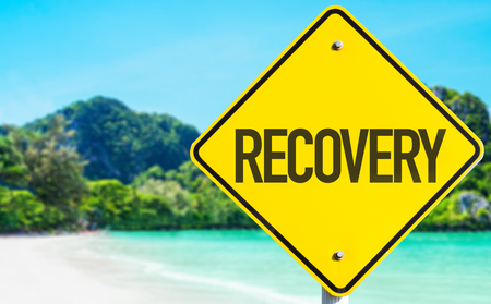 recovery: Recovery sign at beach