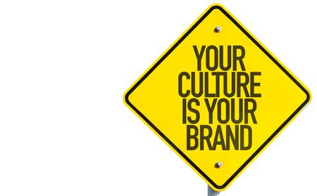 identidad cultural: Su cultura es su signo Marca aislado en el fondo blanco Foto de archivo