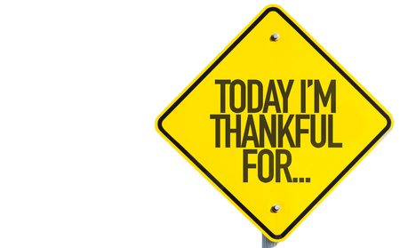 thankfulness: Today Im Thankful For... sign isolated on white background