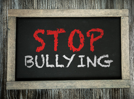 Stop Bullying written on chalkboard Archivio Fotografico
