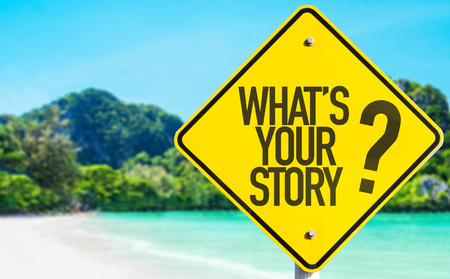 chronicle: Whats Your Story sign with beach background