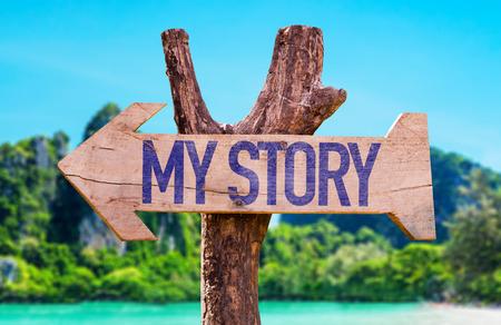 narrator: My Story arrow with beach background