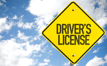 test passed: Drivers License sign with sky background