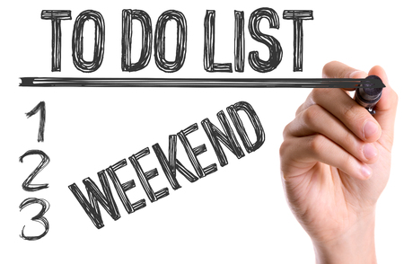 do: Hand with marker writing: To Do List: Weekend