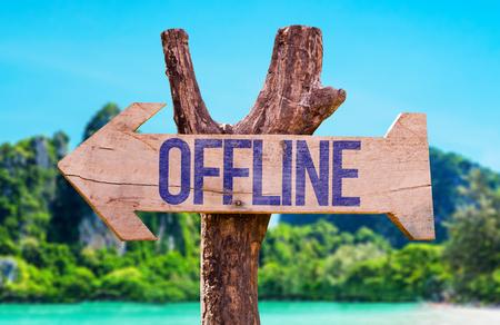 Offline pijl met strand achtergrond
