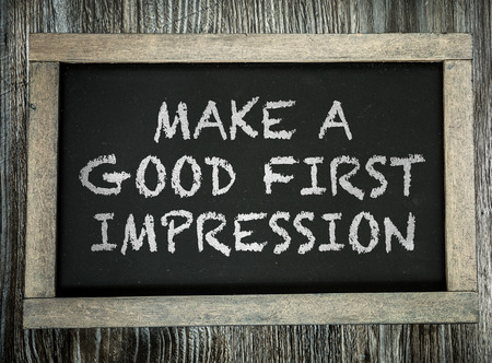 introduction: Make a Good First Impression written on chalkboard