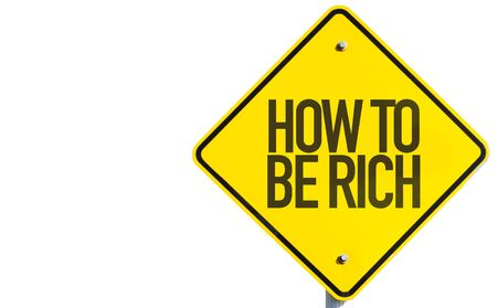 earn more: How to be Rich sign on white background Stock Photo