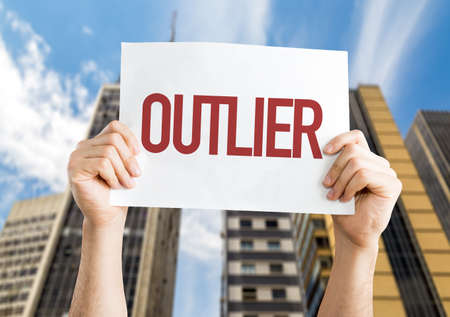 oddity: Outlier placard with urban background