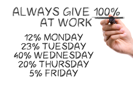 arousing: Hand with marker writing: Funny Quote About Work