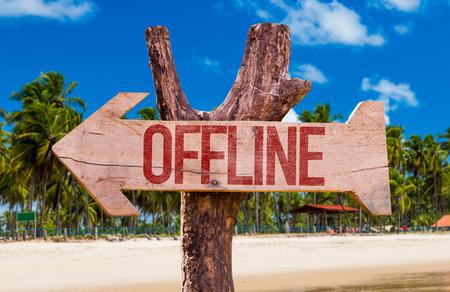 offline: Offline arrow with beach background