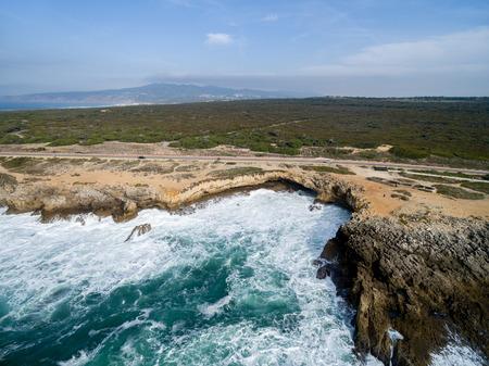 rocky coastline: The rocky coastline of Cascais, Portugal