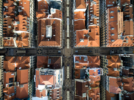 baixa: Top view of Baixa Chiado, Lisbon, Portugal Stock Photo