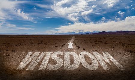 common sense: Wisdom written on desert background
