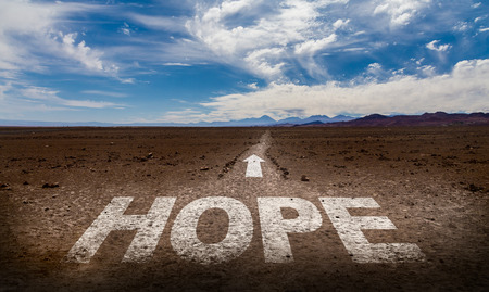 hope: Hope written on desert background