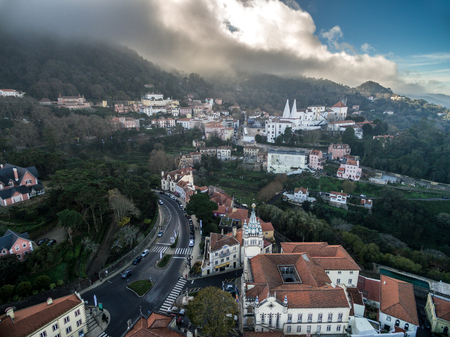 sintra: Aerial view of Sintra, Portugal Stock Photo