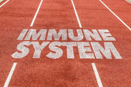 Running track with the word Immune system