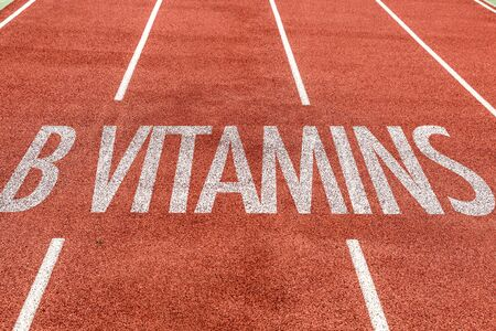 Running track with the word B Vitamins