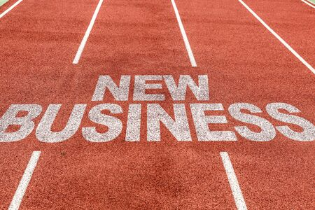Running track with the word New Business