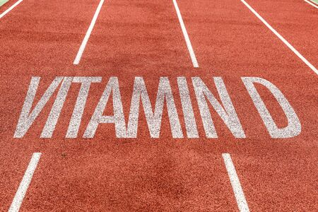 Running track with the word Vitamin D