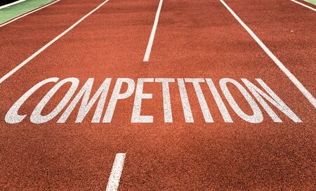 Running track with the word Competition