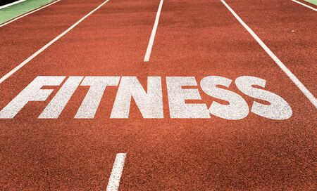 Running track with the word Fitness