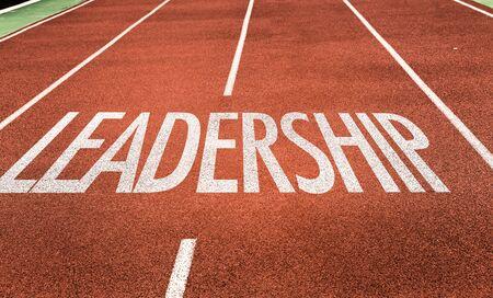 Laufstrecke mit dem Wort Leadership