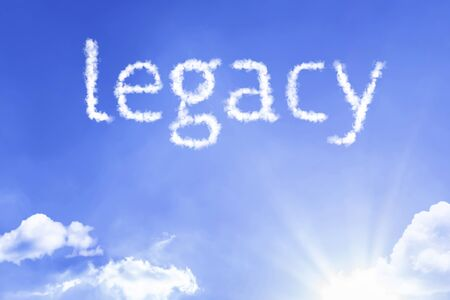 Legacy word with sky concept