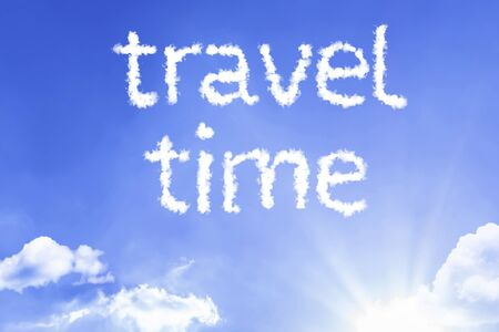 Travel time words with sky concept