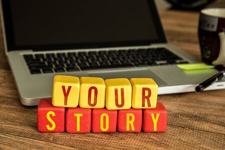 Your story blocks in front of a laptop