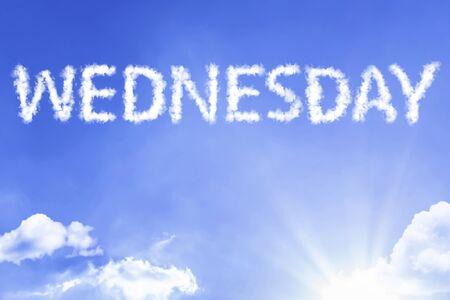 Mercredi avec concept de ciel Banque d'images
