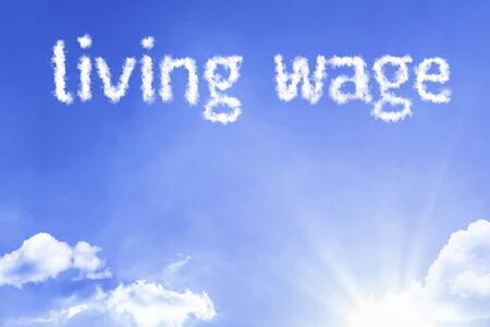 Living wage with sky concept