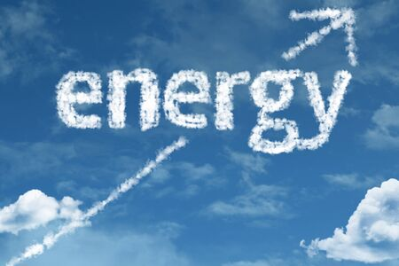 Energy with sky concept