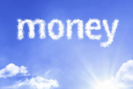 Money with sky concept