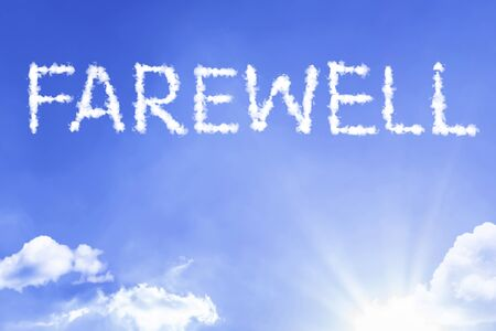 Farewell with sky concept