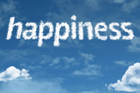 Happiness with sky concept