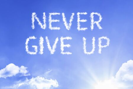 Never give up with sky concept Banco de Imagens