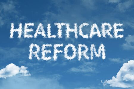 Healthcare reform with sky concept