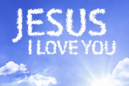Jesus I love you with sky concept