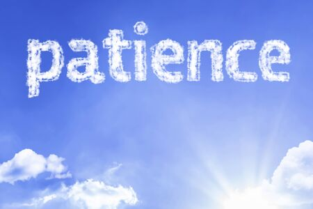 Patience with sky concept Stock Photo