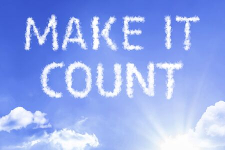 Make it count with sky concept Stock fotó - 128888616