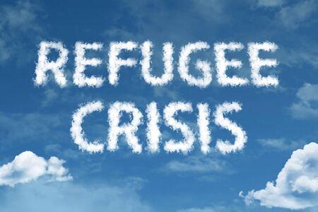Refugee crisis with sky concept
