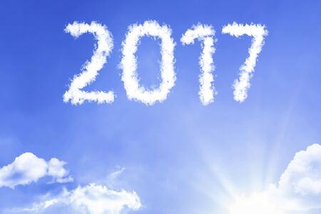 2017 with sky concept