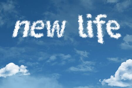 New life with sky concept Imagens